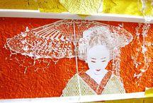 Kirie / Artă japoneză în tăiatul hârtiei