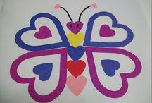 papirhjerte sommerfugl