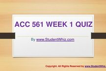 ACC 561 Week 1 Quiz