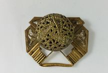 Upcycled vintage brooches
