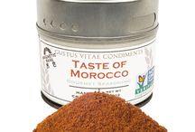 Moroccan Cuisine / Fiery and tasty. This blend brings Morocco to the front door, adding flavors to burgers and red meat is secondary to fish and - well, everything else.