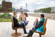 Riverside Gardens Project (Nine Elms) / Studio Tord Boontje approached Factory Furniture to look at some seating designs for the Riverside Gardens, Nine Elms.  This new 'pocket park' is sited on the bank of the River Thames just west of Vauxhall Bridge.  It is a spot where J.M.W. Turner regularly came to paint.