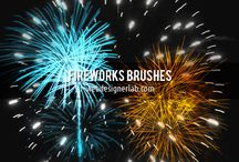 Photoshop Fireworks Brushes for New Year 2013