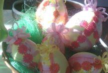 velikonoce / velikonoční aranžmá,barvení vajíček,výzdoba jara