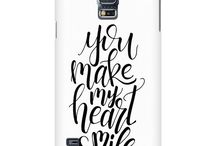 Phone Case Qoutes / Our Phone Case collection features artistic inspirational quotations printed with fun vivid colors, a perfect balance for our modern fast paced world.