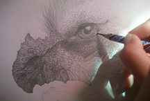 Drawings... :) / Pins with photographs of my drawings in progress and ready works :) Fantasy, realistic, abstract artworks :)