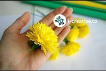 papírové kvetinky