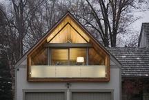 Garasje / Garasje med det lille ekstra; veranda, platting, utebad, sauna, vedfyring, vedlager, lager, oppbevaring
