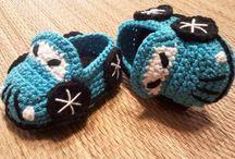 crochet zapatitos y pantuflas