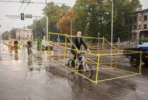 bicycles are the best! / http://www.boredpanda.com/bicycle-automobile-protest-lets-bike-it/