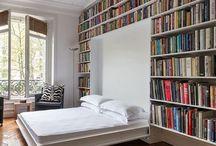 dormitor biblioteca