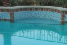Poolside / Design ideas using tile for the pool area