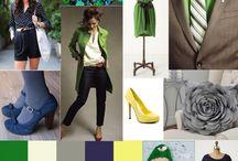 Indigo, Kelly Green, Grey, Lemon & White Palette / by Kathy Dibley