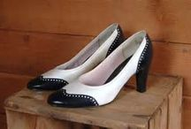 """1960s Shoes / In """"The Black Velvet Coat"""" Sylvia loves to shop and has lots of shoes in her closet."""