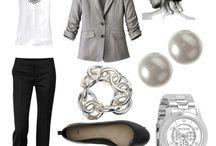 grey clothes