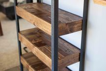 HOME wooden shelves