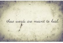 These Words. / Until all I was were these words.   A collection.