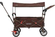 Skládací, plážové vozíky / Víceúčelové skládací vozíky, pro přepravu dětí, hraček, plážového nebo cestovního vybavení, potravin či nápojů. Pro převoz domácích mazlíčků na zahradu i do města.