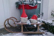 téli kert dekor