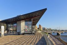 USA: Principal Riverwalk Pavilion and Pump Sation, Des Moines, Iowa / Principal Riverwalk Pavilion and Pump Sation, Des Moines, Iowa (USA) by Substance Architecture   #Architecture #AnthraZinc #Zinc #VMZINC #Façade #Roofing #USA