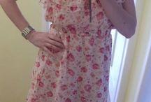 Letní šaty s růžičkama
