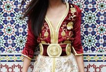 Morrocan / Morrocan clothing with a focus on rich fabric and design.