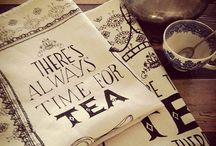 The Orchard: Tea Towel Style: Shabby Chic Vintage / Tea towels we'd love to have hanging in our kitchen