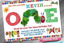 Very Hungry Caterpillar Birthday Invitation & Printable Party Decoration Idea