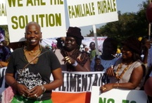 """Africa - Food Sovereignty / African small farmers say """"We are the solution."""" They know how to grow enough food. International intervention continues to push these farmers off their land so it can be used to grow food for first world eaters."""
