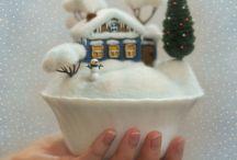зима, открытки, фотографии