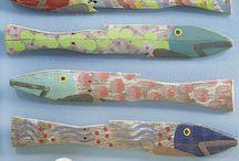 Поделка В Виде Рыбы Из Сплавной Древесины