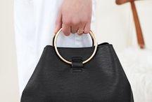 metal handle handbag