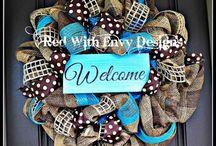 DIY wreaths & door decore