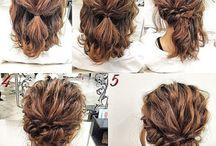 Kampauksia / Hairstyles for short hair