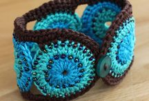 Crochet-Bracelets/Cuffs/Necklace