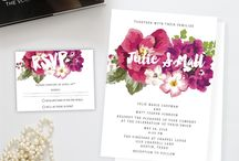 Wedding Invitations / Beautiful wedding invitations in matte, pearl and cotton.