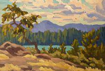 Plein Air - Jeffrey J Boron / plein air paintings by Victoria BC artist Jeffrey J Boron