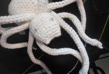 Giant Crochet Spiders