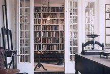 LIBRARY + LIVING ROOM