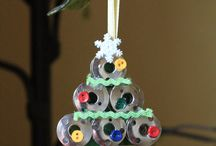 Sewing Themed Christmas ornaments