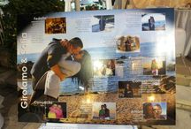 Tableau tavoli matrimonio / raccolta fotografica con i nomi utilizzati dagli sposi per il tableau dei tavoli per il matrimonio