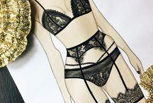 эскизы нижнего белья