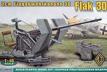 Military plastic kits, 1/48