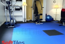 Exercise/Fitness Floors / Use SoftTiles Interlocking Foam Mats to create cushioned workout spaces in your home gym. SoftTiles.com