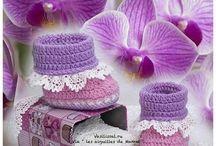 sapatinhos  crochê e trico