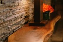 Wood edge console