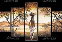 Schilderijen Afrikaans / Schilderijen Afrikaanse Kunst