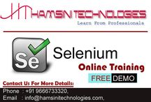 Selenium Online Training / Hamsini Technologies is the top institute to provide Selenium Online, Classroom & Corporate Trainings around the world from Hyderabad, India. 13+ years experienced highly qualified trainers will give you the all trainings. Till now hundreds of students completed their courses successfully and settled in TOP MNC's under our guidance. We are highly experts to train overseas students like USA, UK, UAE, Canada, Australia and all over the globe.