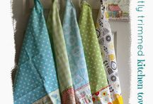 Tea Towels / A board of kitcheny lovelies to inspire and perhaps re-create.