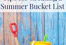 Summer Bucket List / Summer 2014 Ideas.